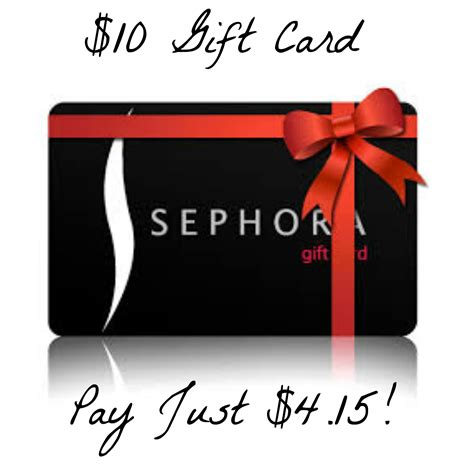 Where To Get Sephora Gift Card - hot get a 10 sephora gift card for just 4 15