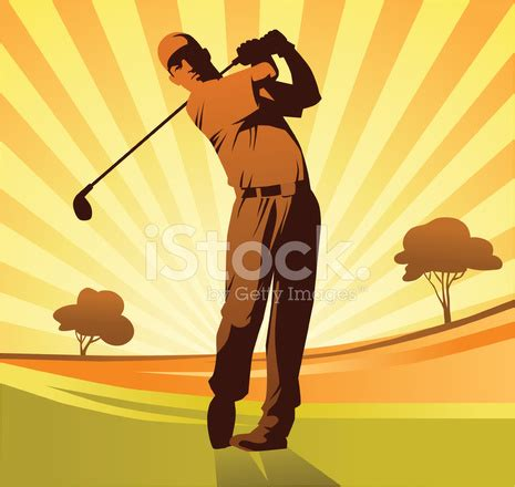 Gc Premium Brown golf player in orange and brown stock vector freeimages