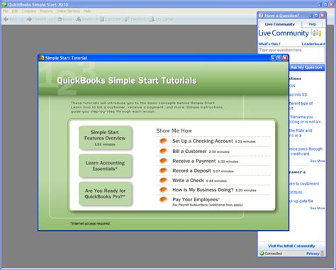 quickbooks tutorial free download 2010 quickbooks simple start free download
