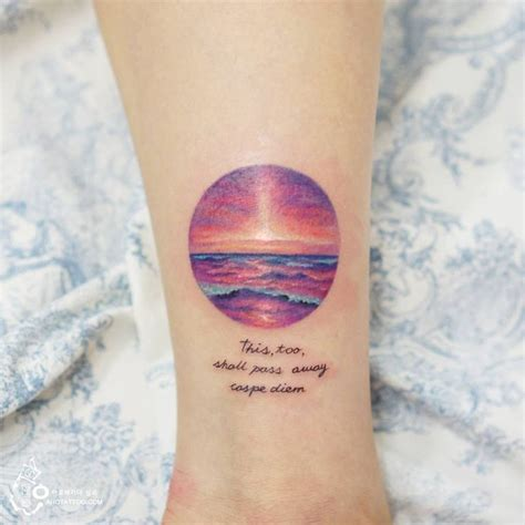 ocean sunrise tattoo pictures to pin on pinterest tattooskid