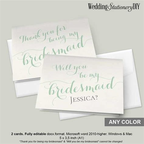 will you be my bridesmaid card word template mint bridesmaid card 2418302 weddbook