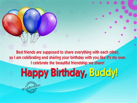 greetings to happy birthday buddy wishbirthday