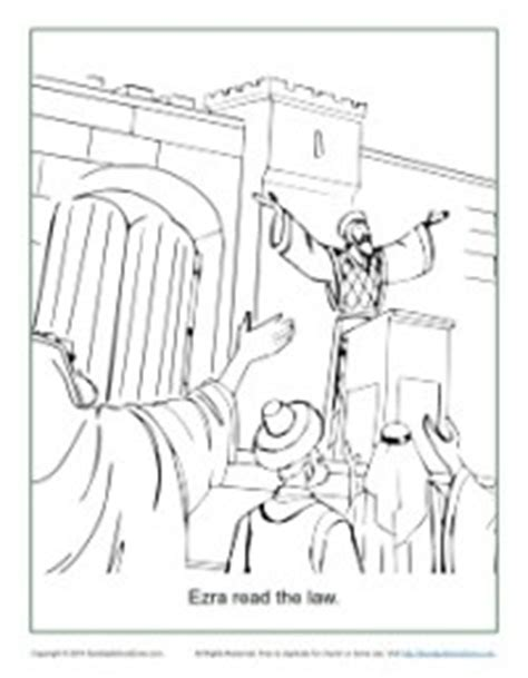 free bible coloring pages ezra ezra read the coloring page