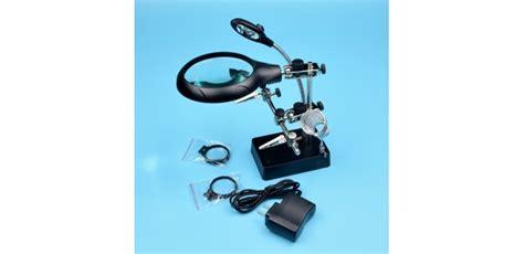Promo Soldering Stand Evsteel Tempat Solder jual stand solder dengan 3 kaca pembesar led