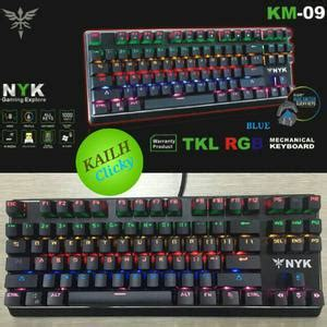 Nyk Gaming Keyboard Km 10 Mechanical Tkl nyk km09 tkl mechanical gaming keyboard blossom toko