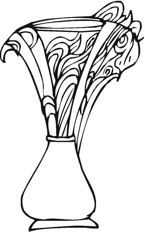 Vase Coloring Page by V Is For Vase Coloring Pages