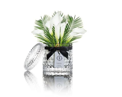 Win A Beautiful Yummi Glass Orchid Pendant From Astley Clarke by Teak Black Satin Collection Candle With