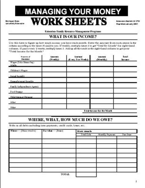 Budgeting Money Worksheets by Budget Worksheet Home Budget Template