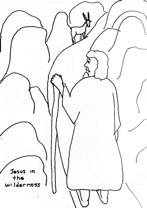 coloring pages jesus tempted desert jesus in the desert coloring pages