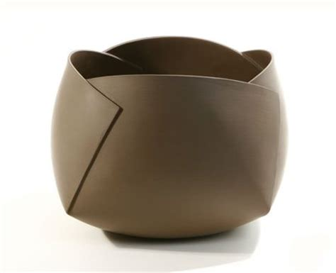 Folded Paper Bowl - folded ceramic bowl with clay