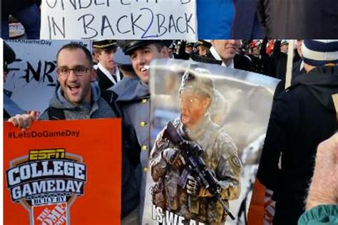 best 'college gameday' signs from army navy game