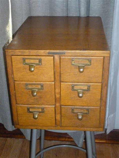 antique library bureau sole makers 6 drawer oak file