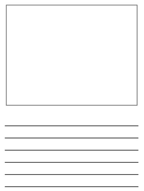 creative writing template book pages