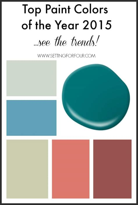 popular color top paint colors of the year 2015 decor trends setting