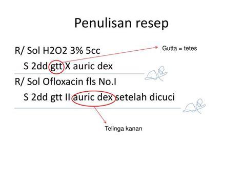 Obat Tetes Mata Yg Kuning ppt menulis resep powerpoint presentation id 1083956