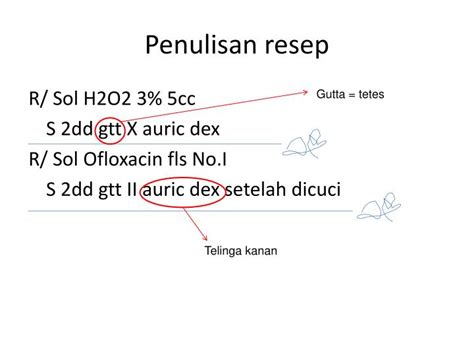 Obat Tetes Telinga H2 O2 Ppt Menulis Resep Powerpoint Presentation Id 1083956
