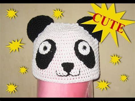 Vlo Hat Topi Anak crochet topi panda untuk anak anak panda hat for kid