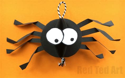 How To Make A Paper Spider - paper spider craft how to make a 3d spider out of paper