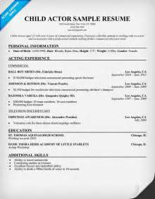 actors resume with no experience resume format