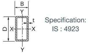 rectangular hollow section properties tata structura engineer hollow section weight thickness
