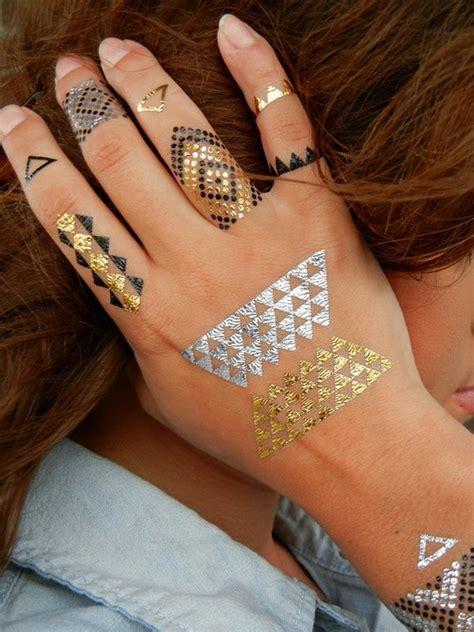 henna tattoo golden summer trend sexy golden temporary tattoos fashion corner