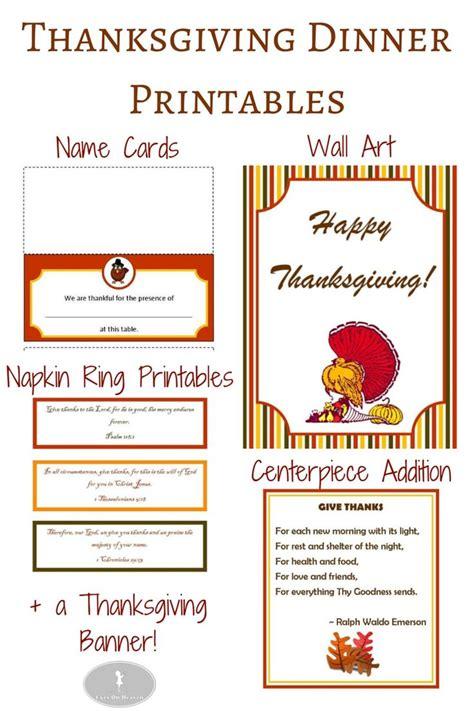 turkey dinner printable thanksgiving dinner printables