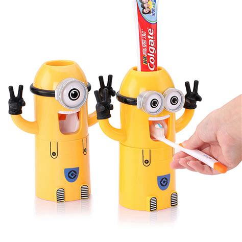 Minion Bathroom Decor by In Stocked Automatic Toothpaste Dispenser Bathroom