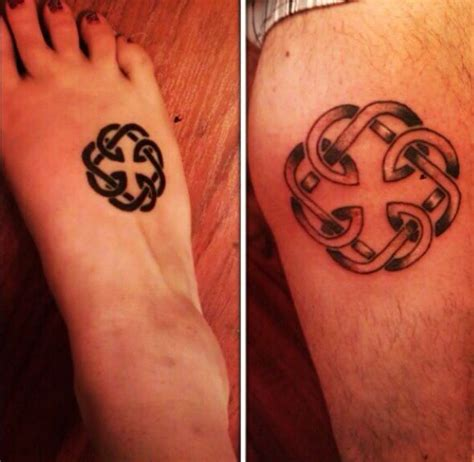 father daughter tattoos symbols celtic symbol for bond matchingtattoos