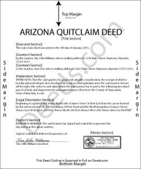 Property Ownership Records Maricopa County Arizona Quit Claim Deed Forms Deeds