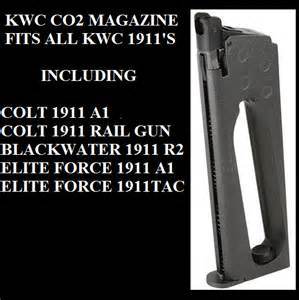 Magazine Kwc 1911 14 co2 magazine for kwc 1911 airsoft guns elite colt blackwater ebay