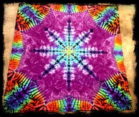 flower pattern tie dye tie dyed mandala tapestry lotus flower cotton