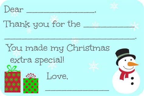 Merry Thank You Card Template by Fill In The Blank Thank You Cards Free Printable