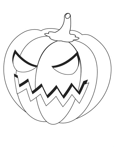 cartoon jack o lantern coloring home