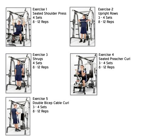 marcy md 9010g smith machine shoulders biceps workout