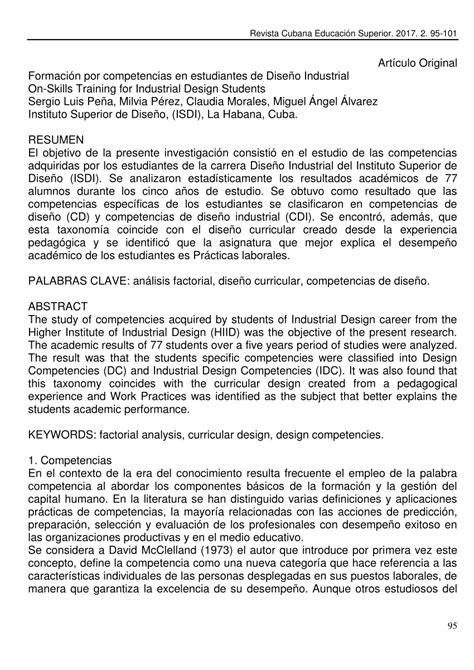 (PDF) revista CUBaNa De eDUCaCiÓN sUPeriOr Formación por