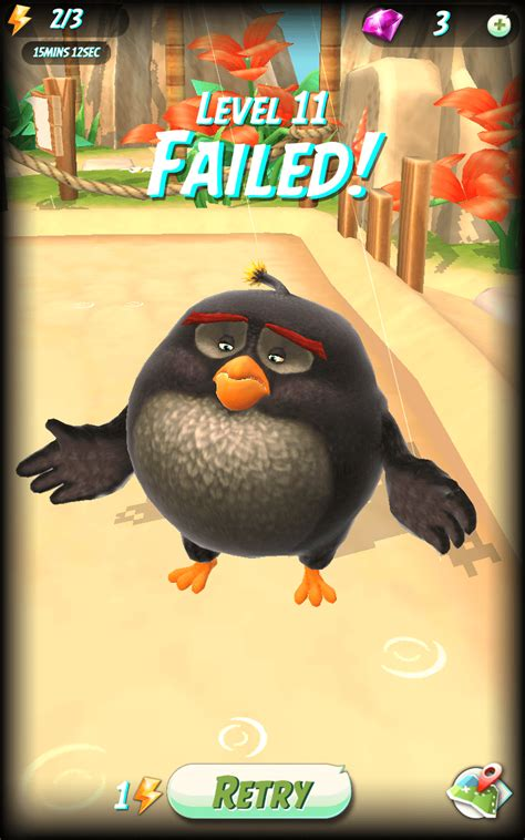 angry on a review angry birds what happened to chuck