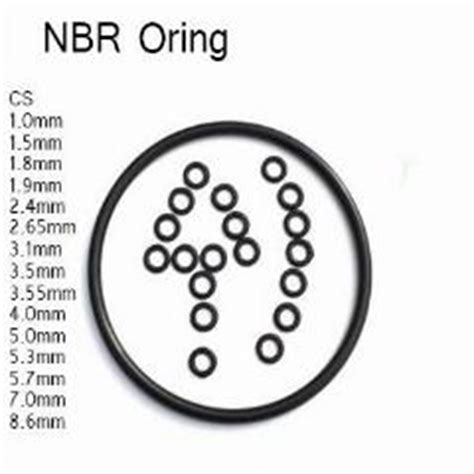 Oring Chord Nbr Grosir Dia 8mm 1 9mm cs nbr oring thickness od 5 5 5 6 6 5 7 7 5mm resistance pipe joint washer gasket