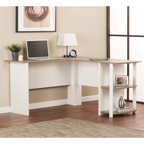 amazon home office desk altra furniture dakota l shaped desk with bookshelves