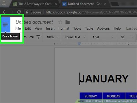 how to make calendar in docs the 2 best ways to create a calendar in docs wikihow