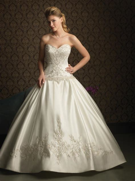 ivory beaded embroidery ball gown formal wedding