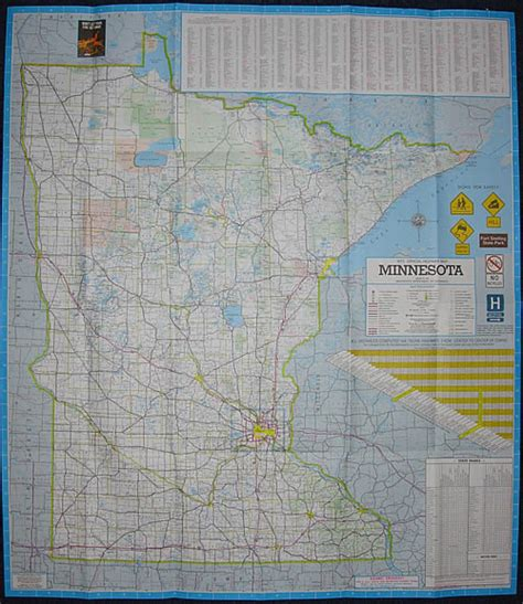 Route Drawer Map by 1973 Official Highway Map Minnesota