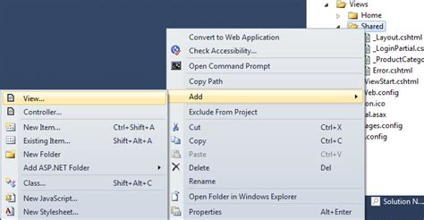 layout for partial view razor partial view in asp net mvc