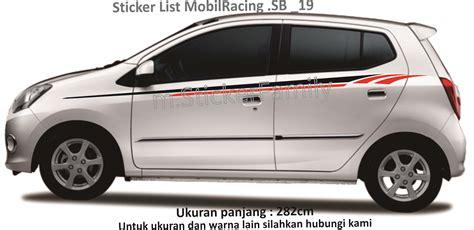 List Kaca Sing Untuk Mobil Agya Dan Ayla jual sticker cutting list mobil agya ayla side stripe