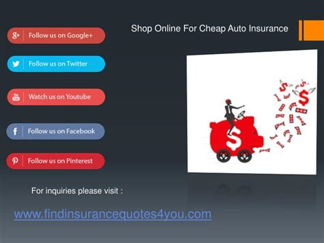 Shop Auto Insurance by Ppt Shopping For Cheap Auto Insurance Powerpoint