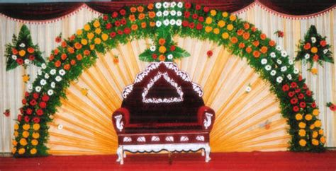 pictures of decorations flower stage decoration in nagar chennai id 9689518712