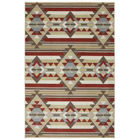 Navajo Area Rugs Navajo Stripe Kingsgold 5 Ft X 7 Ft Area Rug 426149 The Home Depot