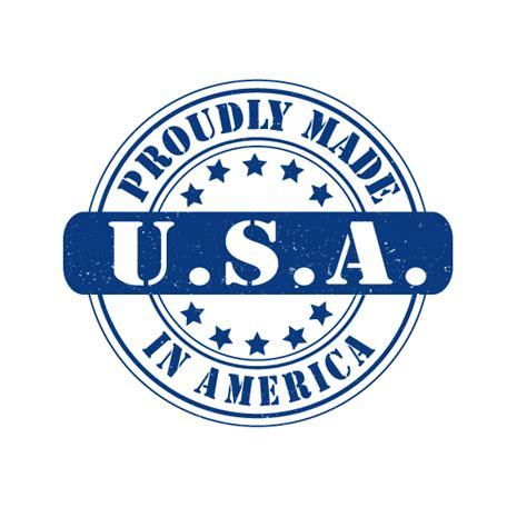 American Home Design Logo Made In Usa Logo Design Vector Royalty Free
