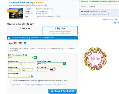 Agoda Debit Card | cara guna debit card untuk pembayaran di agoda booking