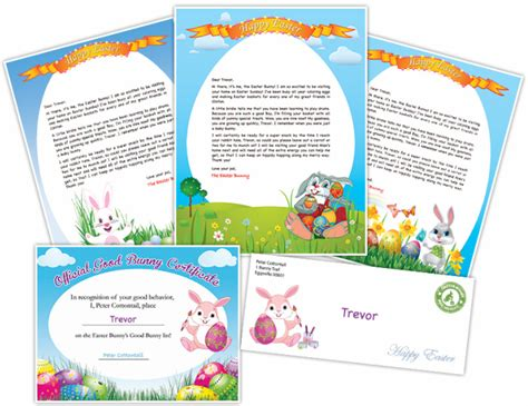free printable letters from the easter bunny free easter bunny letter printable