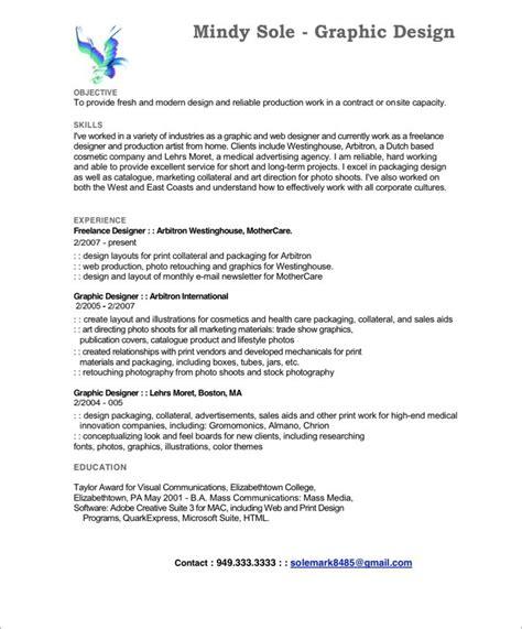 graphic designer free resume sles blue sky resumes